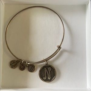 "Alex and Ani ""N"" initial bracelet"